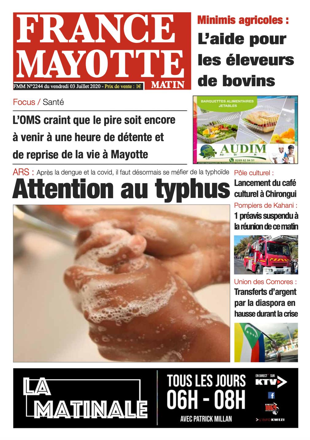 France Mayotte Vendredi 3 juillet 2020