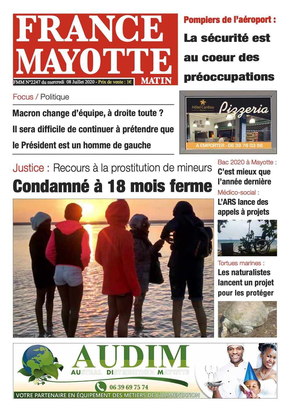 France Mayotte Mercredi 8 juillet 2020