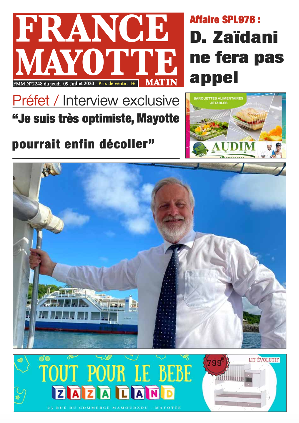 France Mayotte Jeudi 9 juillet 2020