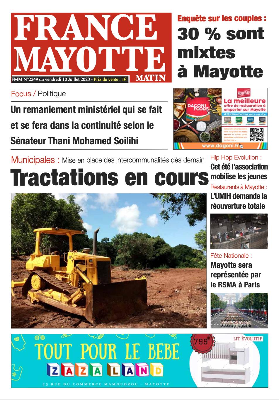 France Mayotte Vendredi 10 juillet 2020