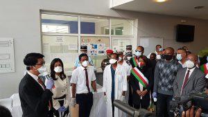 Visite présidentielle à Majunga pour apporter du matériel anti-Covid
