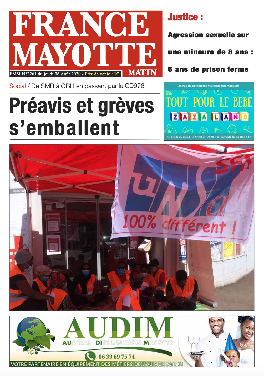 France Mayotte Jeudi 6 août 2020