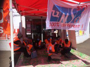 Le piquet de grève illimité de la société mahoraise de radiotéléphonie a débuté hier matin