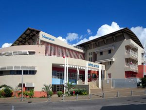 Mamoudzou City Hall on Grande Terre, Mayotte, illustrates the large subsidies this Indian Ocean overseas department receives from France.