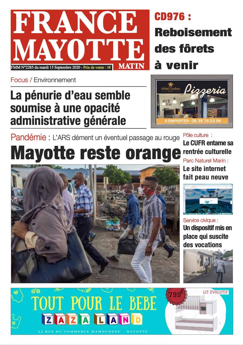France Mayotte Mardi 15 septembre 2020