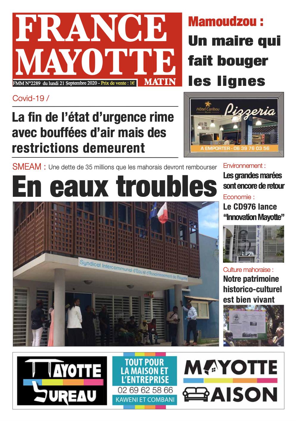 France Mayotte Lundi 21 septembre 2020