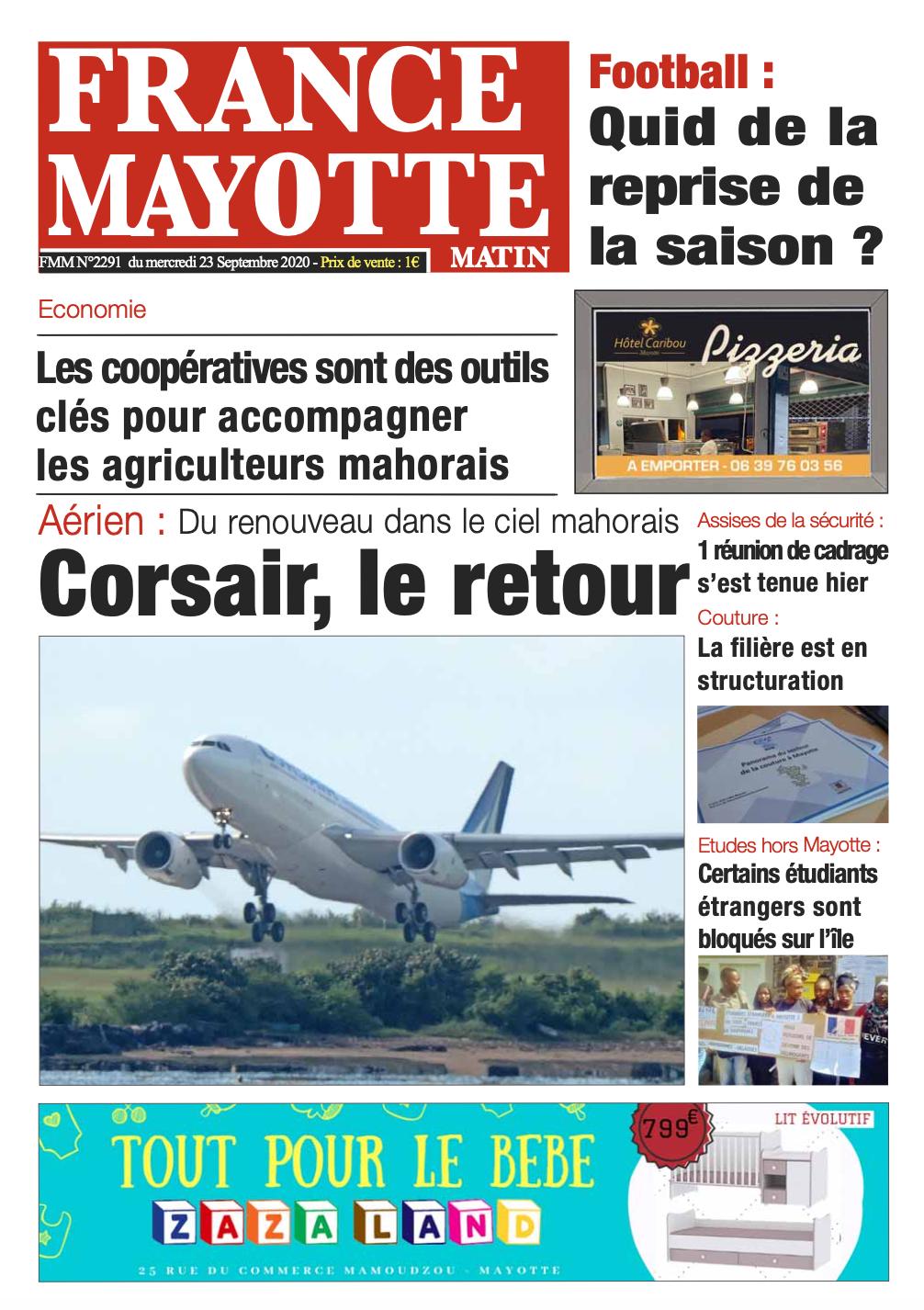 France Mayotte Mercredi 23 septembre 2020