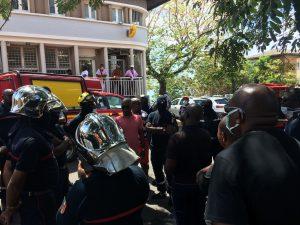 Une délégation de sapeurs-pompiers est finalement reçue par les élus du CD
