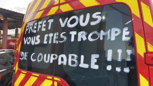 La manifestation des pompiers en grève se prépare à l'appel du syndicat SNSPP-PATS