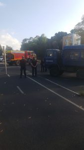 Les gendarmes interviennent dans la manifestation des pompiers