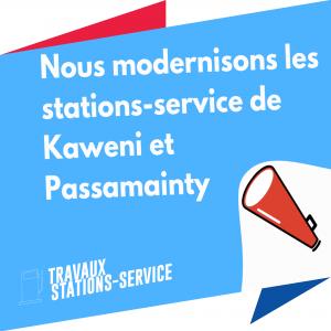 Les stations service de Kawéni et Passamainty modernisées
