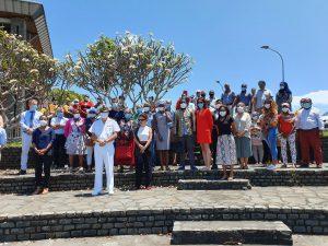 Les agents de la préfecture rendent hommage au pompier disparu