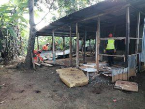 Opération de démolitions à Ambato