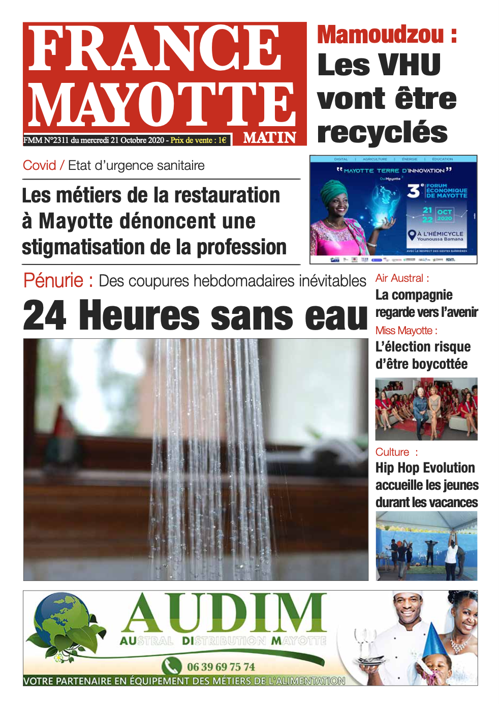 France Mayotte Mercredi 21 octobre 2020