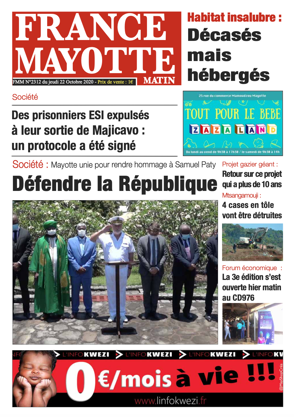 France Mayotte Jeudi 22 octobre 2020