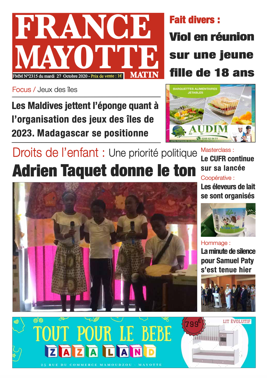 France Mayotte Mardi 27 octobre 2020