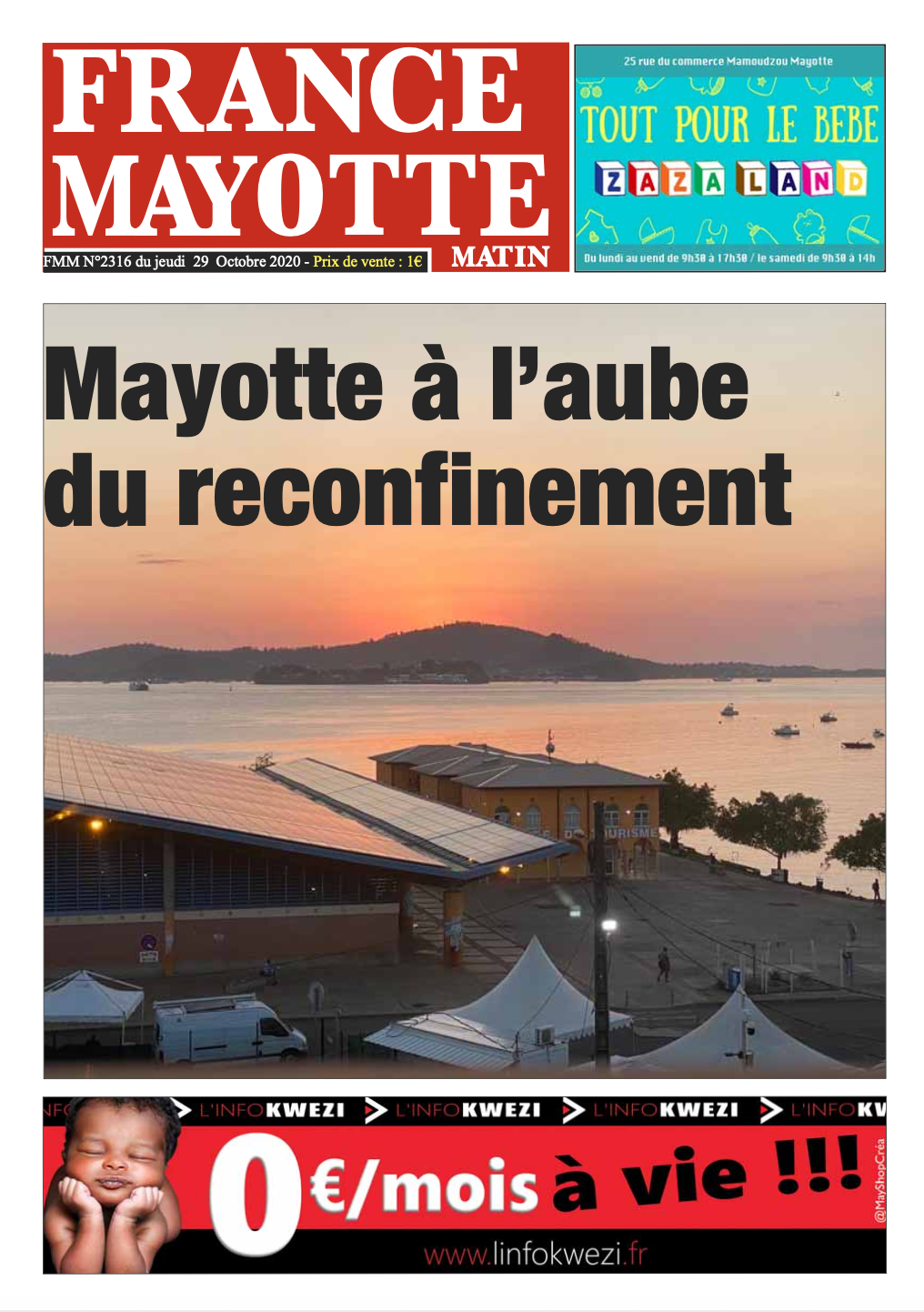 France Mayotte Jeudi 29 octobre 2020