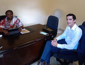La députée Ramlati Ali a aussi rencontré Jules Perreau le directeur régional de Corsair