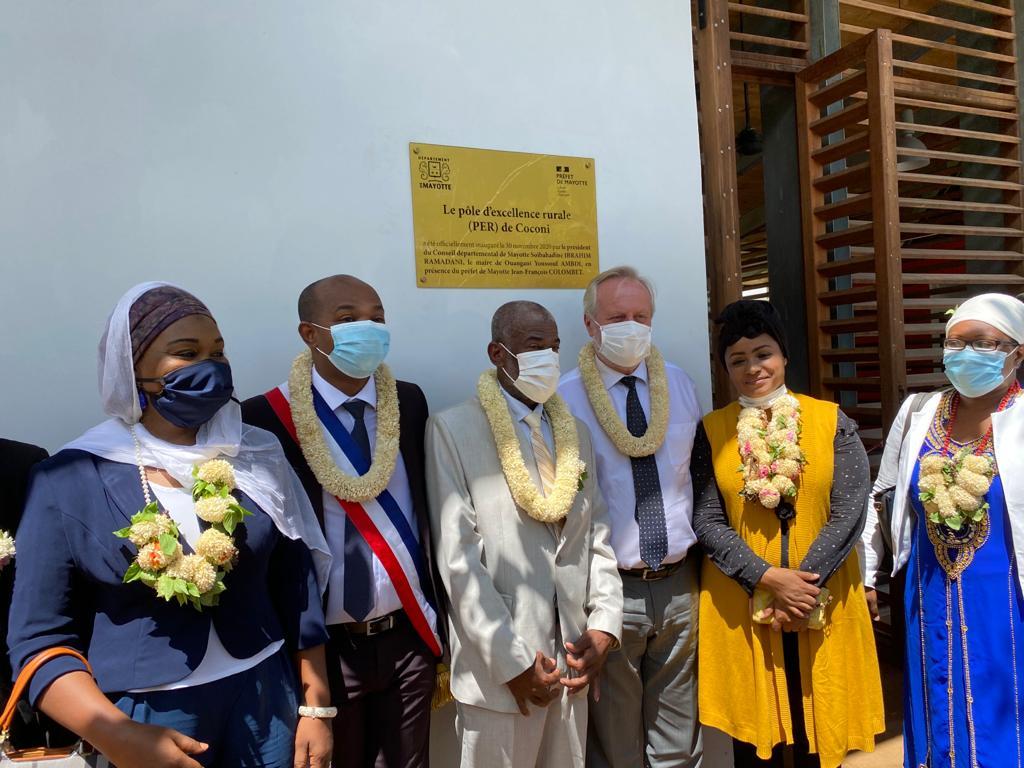 Inauguration du Pôle d'Excellence rurale à Coconi