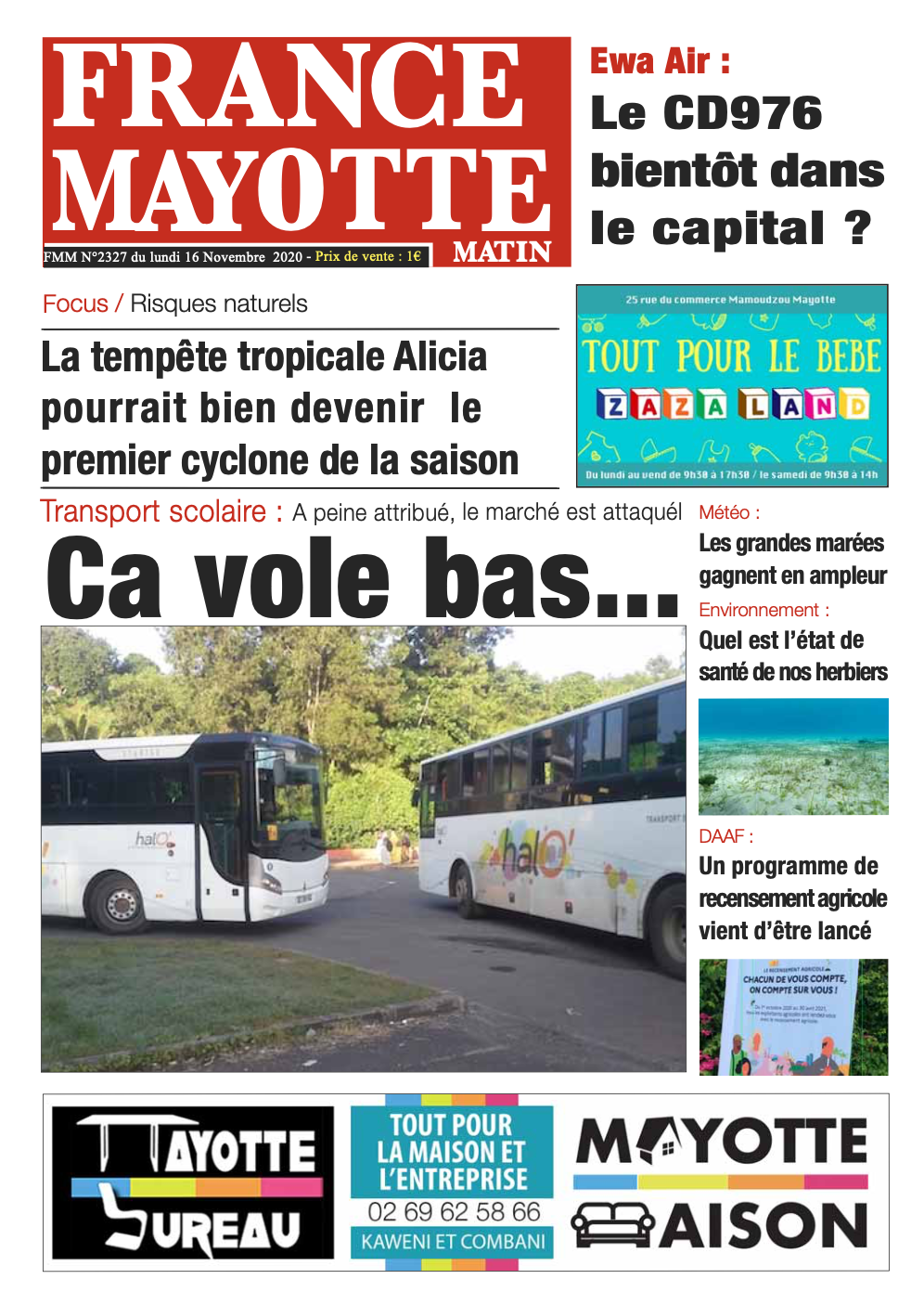 France Mayotte Lundi 16 novembre 2020