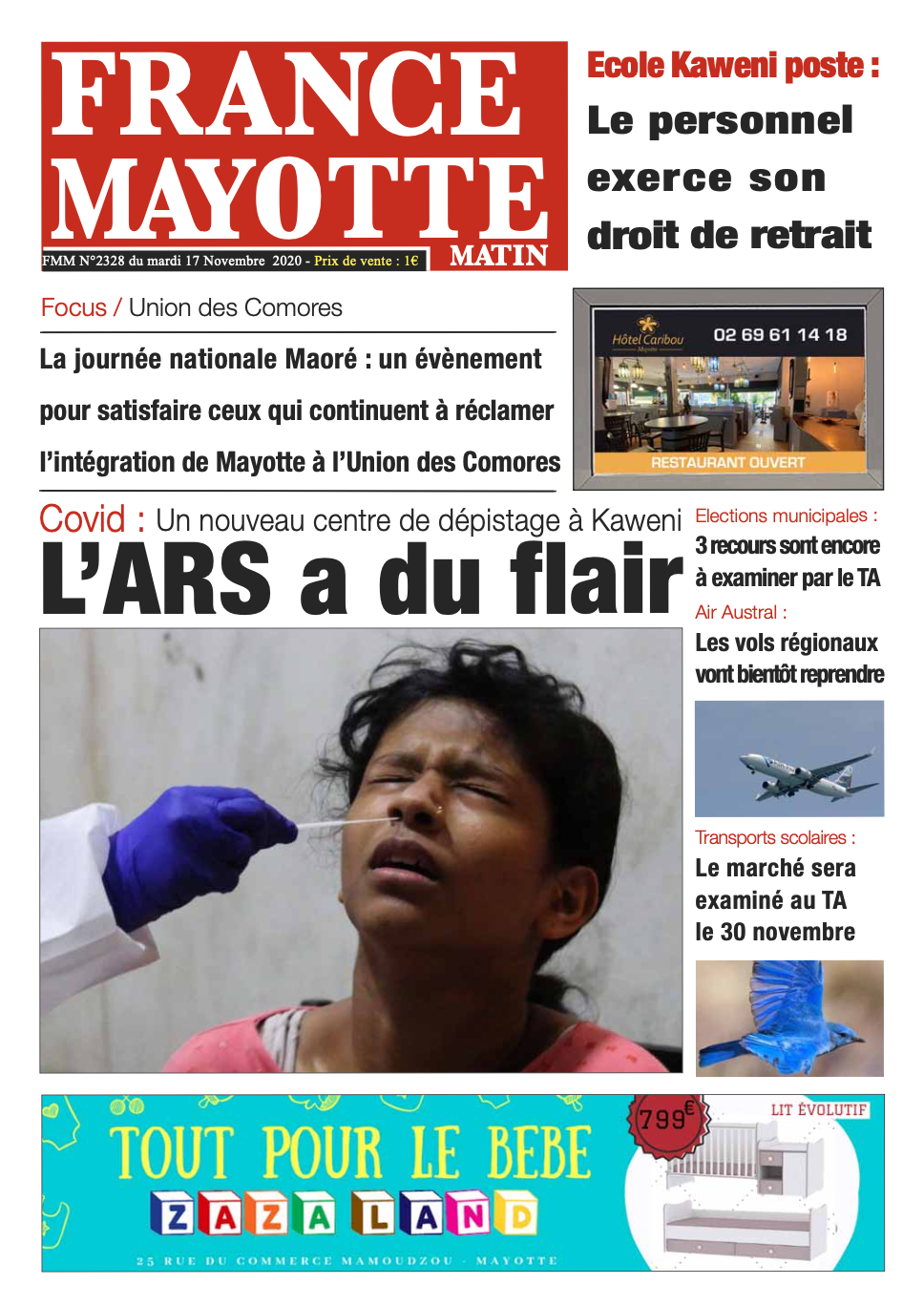 France Mayotte Mardi 17 novembre 2020