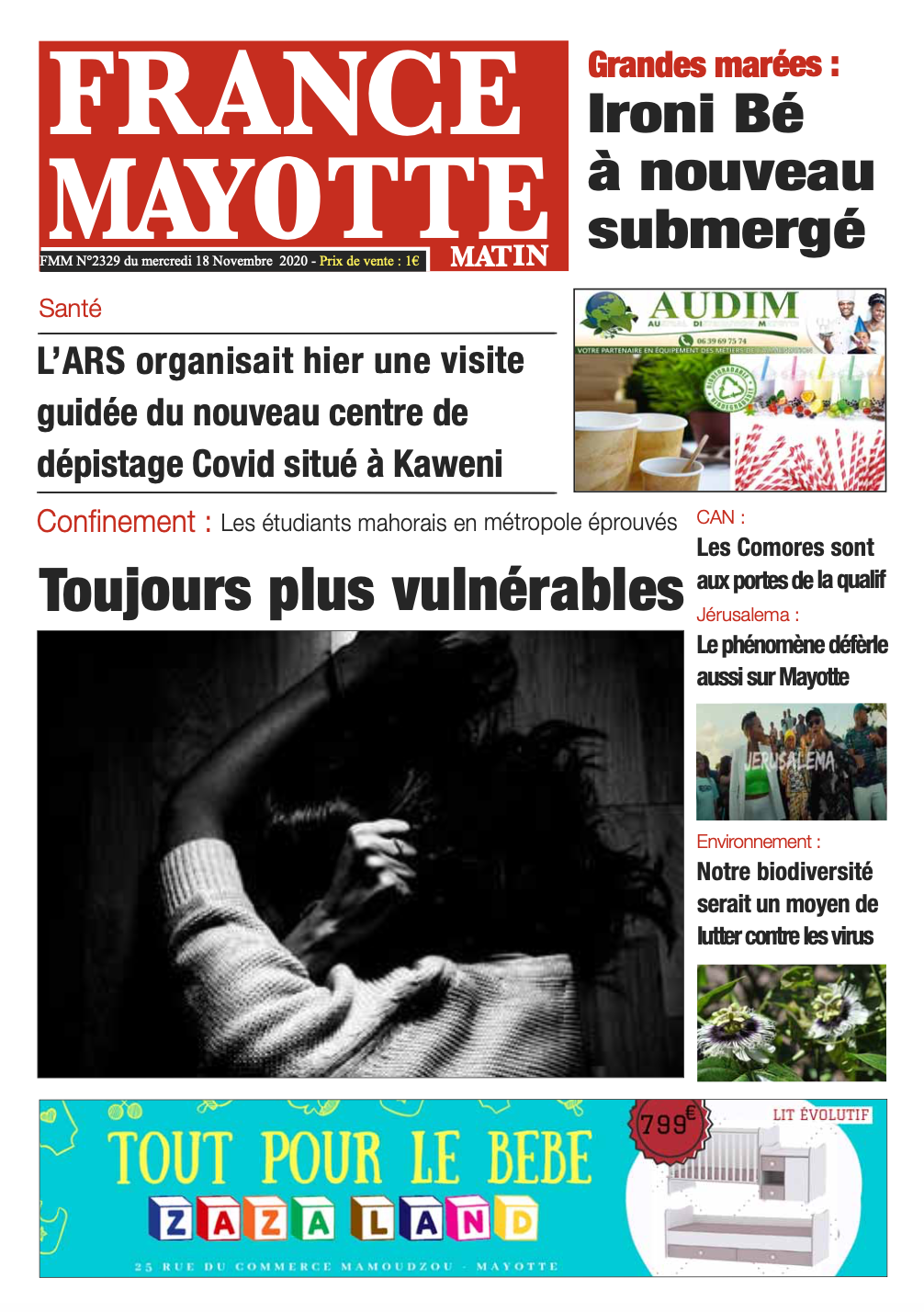 France Mayotte Mercredi 18 novembre 2020