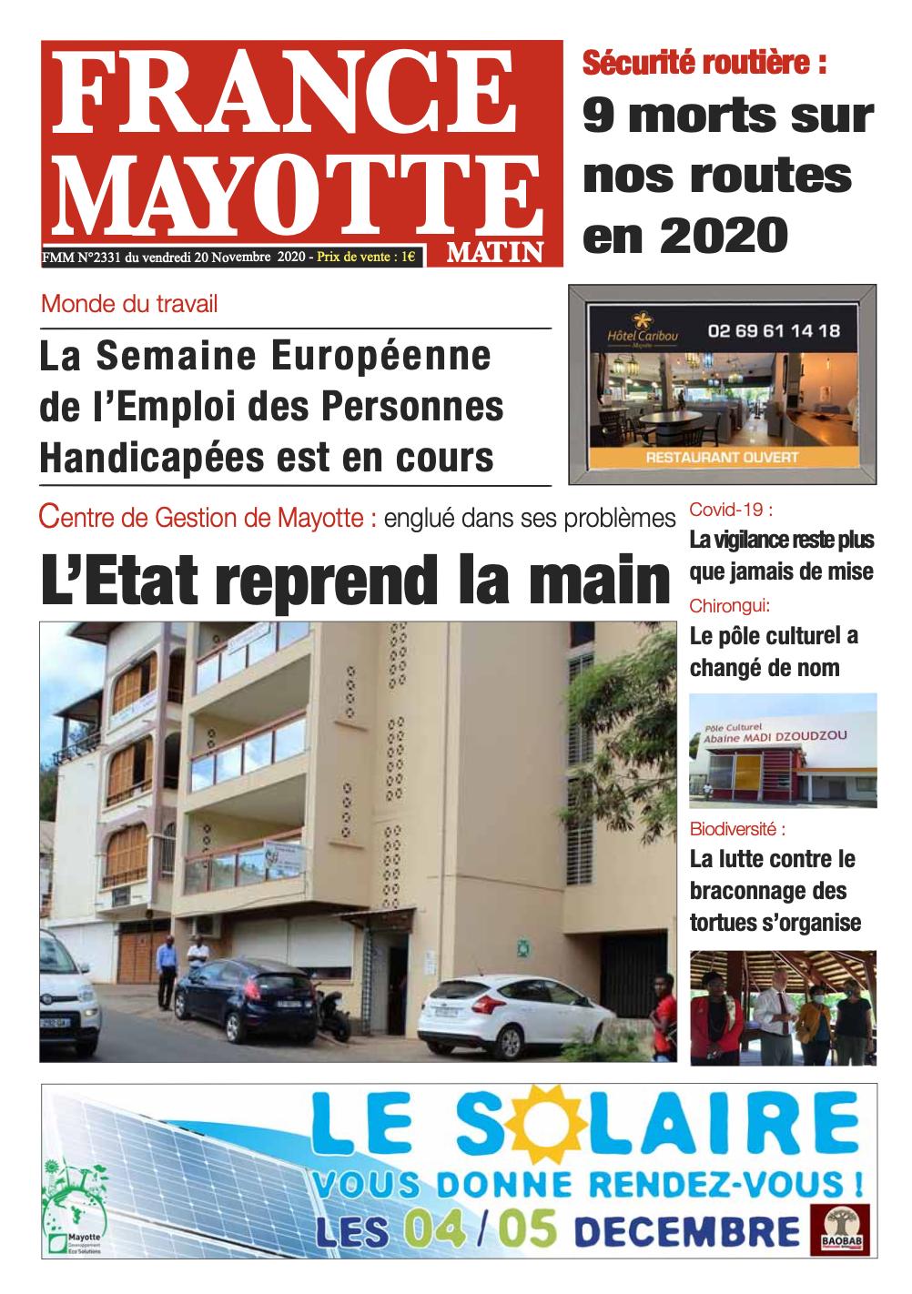 France Mayotte Vendredi 20 novembre 2020