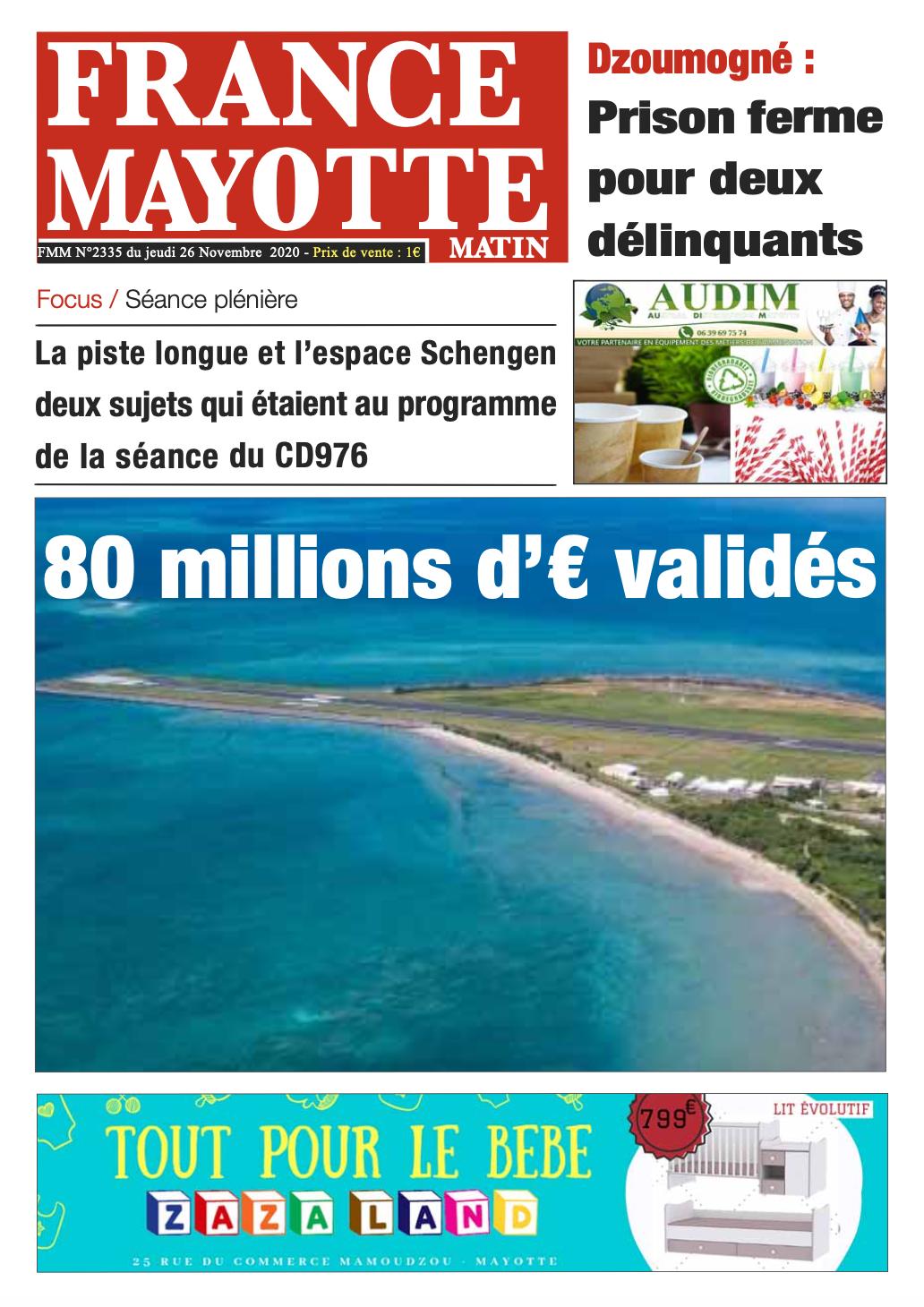 France Mayotte Jeudi 26 novembre 2020