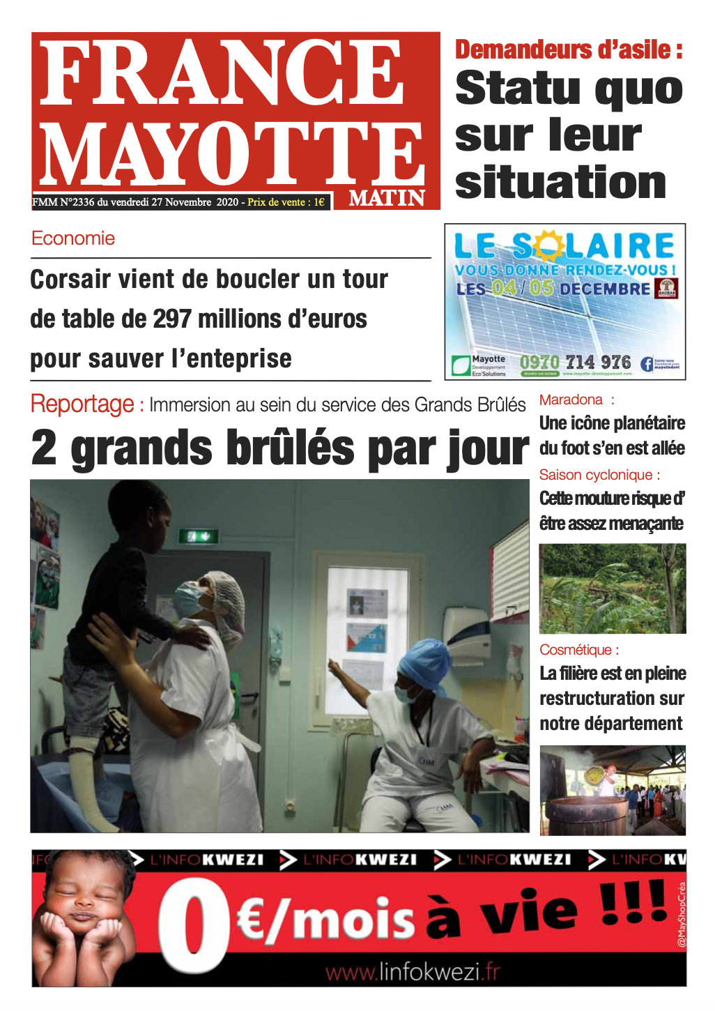France Mayotte Vendredi 27 novembre 2020