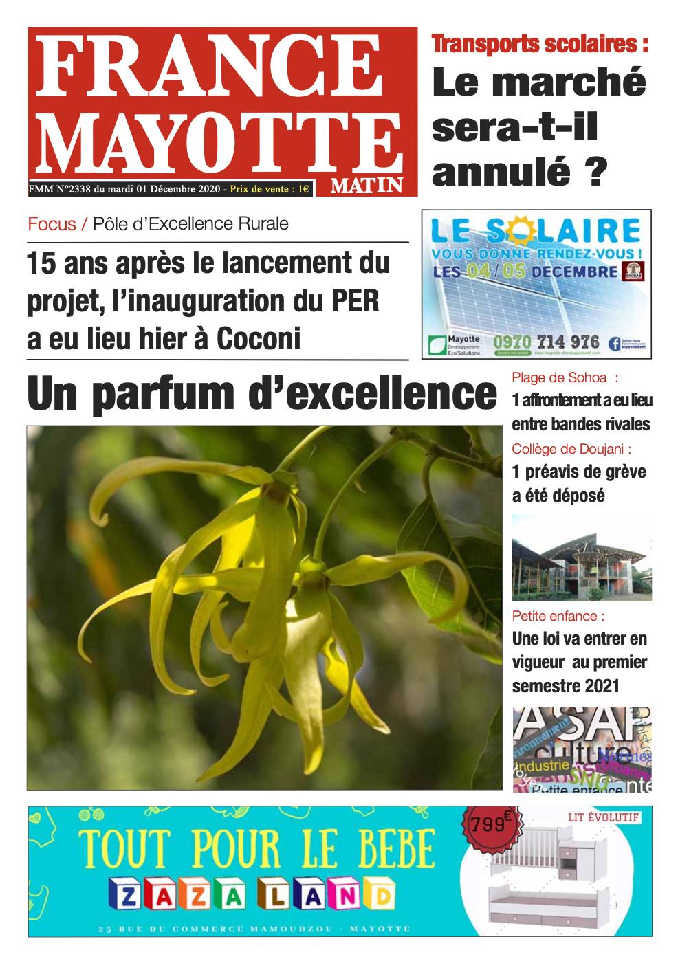 France Mayotte Mardi 1er décembre 2020