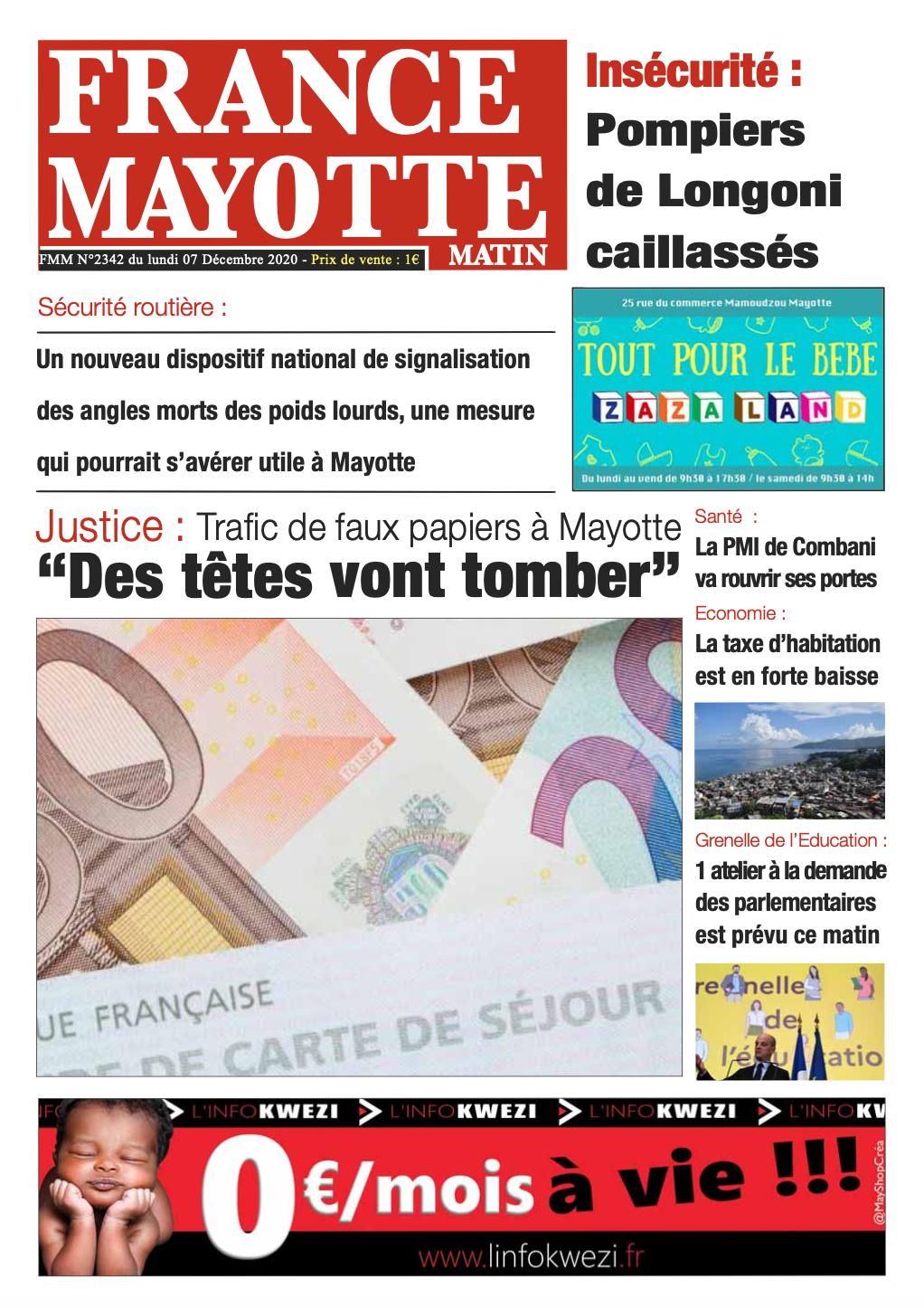 France Mayotte Lundi 7 décembre 2020