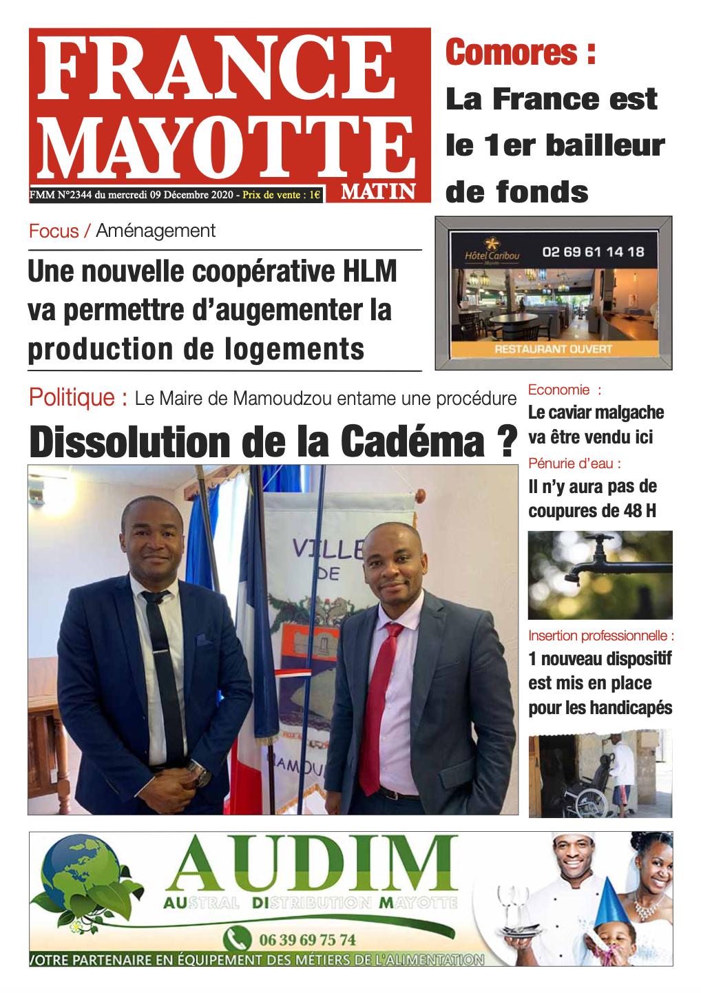 France Mayotte Mercredi 9 décembre 2020