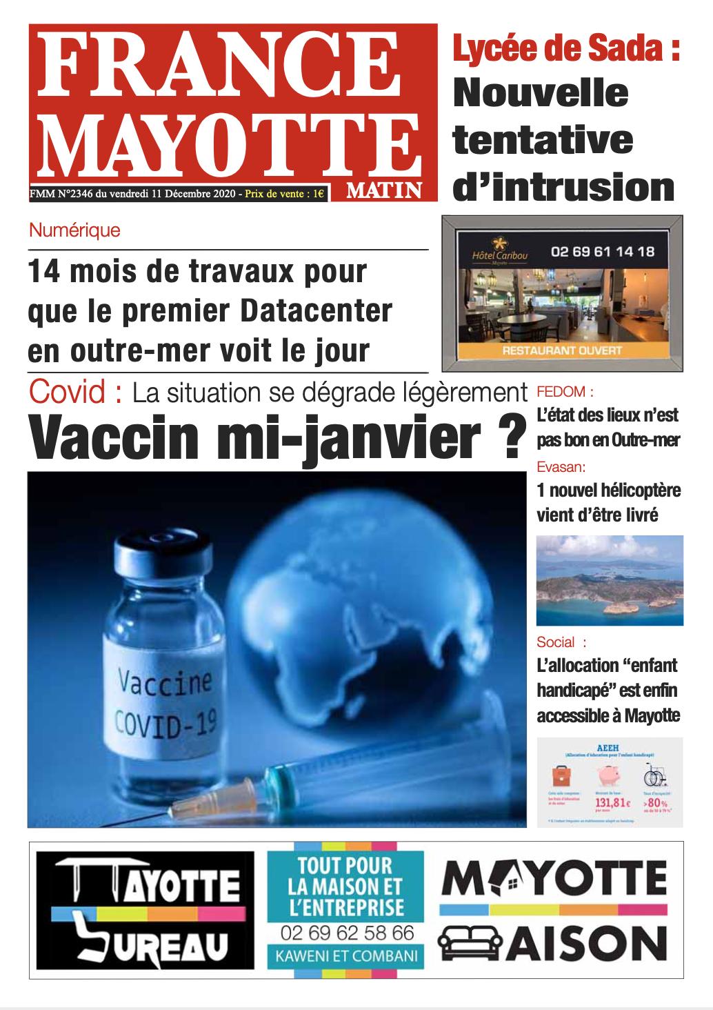 France Mayotte Vendredi 11 décembre 2020