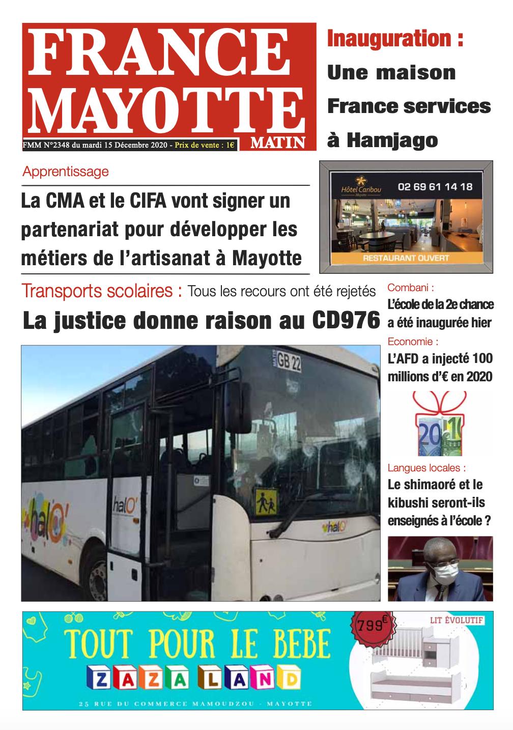 France Mayotte Mardi 15 décembre 2020