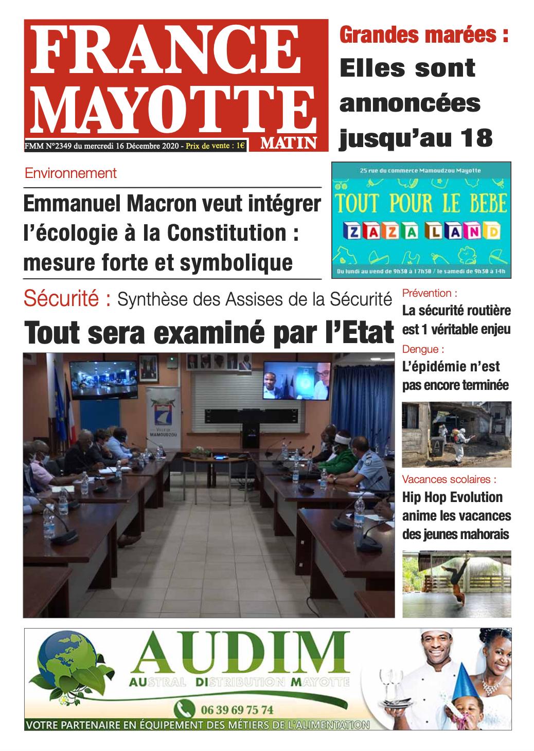 France Mayotte Mercredi 16 décembre 2020