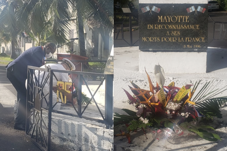 hommage rendu à Mayotte le 8 juin 2021 en l'honneur des morts pour la France en Indochine.