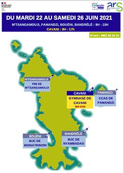 Le centre de vaccination migre à Cavani