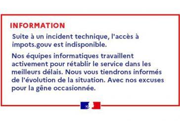 Le site des impôts inaccessible en raison d'un incident technique
