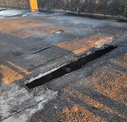 Une route fermée à Pamandzi suite à la chute d'une dalle sur la chaussée
