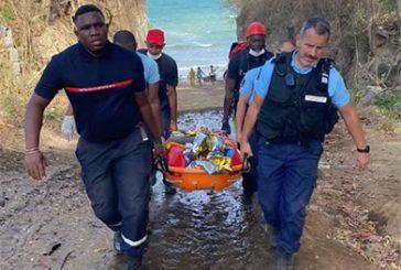 Sauvetage périlleux en Petite-Terre après la chute d'une falaise