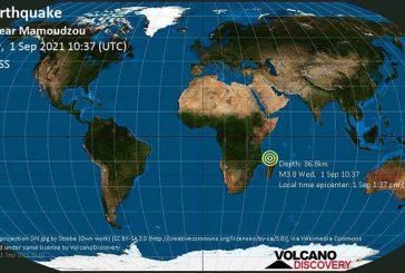 Nouveau séisme du jour mais à 3.8 sur l'échelle de Richter