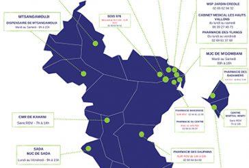 Carte des centres de vaccination
